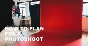 plan for a photoshoot